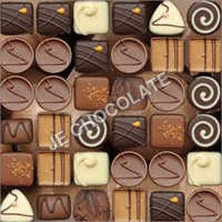 Printed Button Chocolate