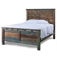 Wooden and Iron Bed