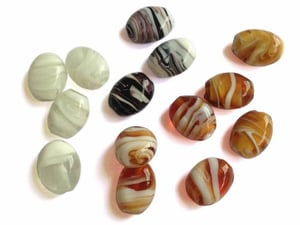 Glass Beads With Lampwork Art