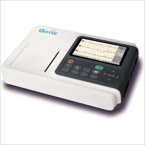 Digital Three Channel ECG Machine