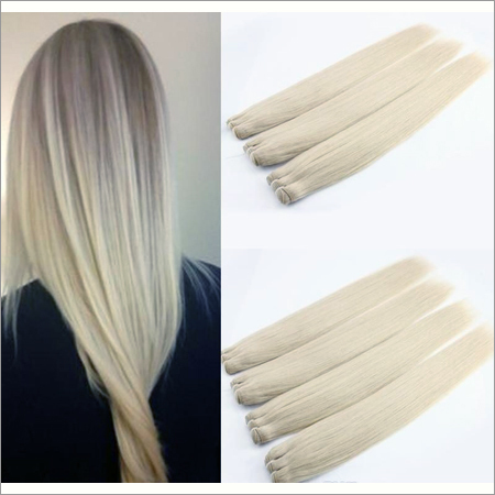 Blonded (Color No 613 ) Wefted Hairs