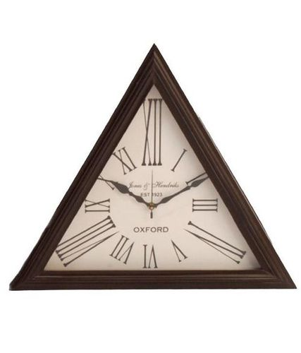 Antique Triangle  Wall Clock
