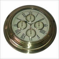 Antique Brass Wall Clock
