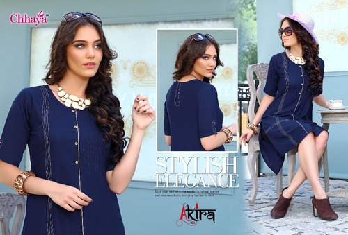 Ladies Flavour Presents Heavy rayon quality sttiching pettrun concent kurtis