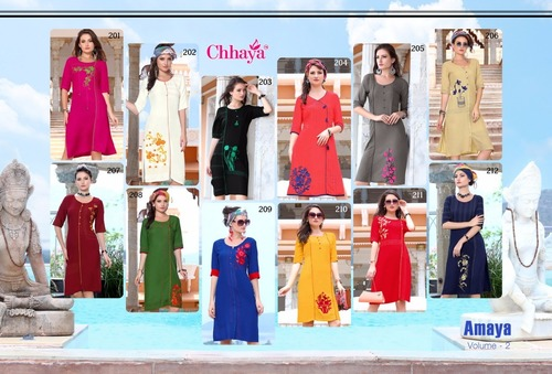 ladies flavour Presents Heavy rayon quality embrodary concent