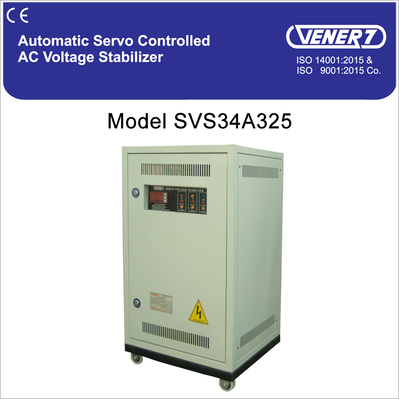 25kVA Automatic Servo Controlled Air Cooled Voltage Stabilizer