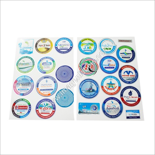 Round polister stickers