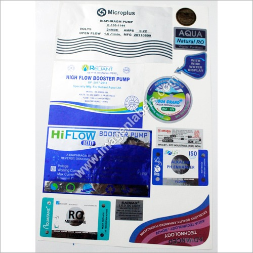 RO Water Purifier Stickers Lables