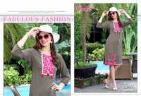 ladies flavour Presents Heavy rayon quality work n petten concept kurtis