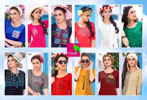ladies flavour Presents Rayon heavy quality total designer print concept kurtis