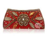 Beads Work Clutch Bag