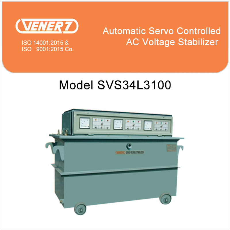 100kVA Automatic Servo Controlled Oil Cooled Voltage Stabilizer