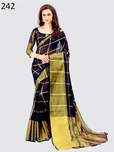 Balck Cotton Saree