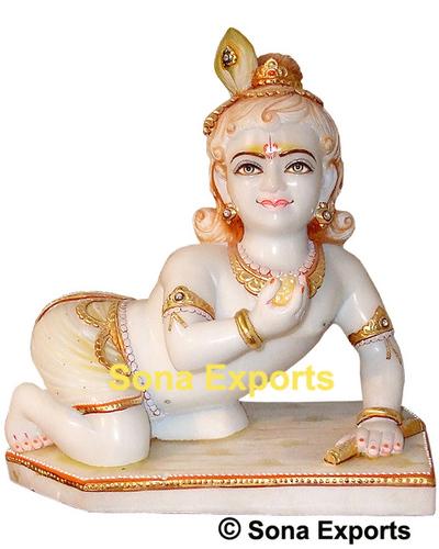 Marble Laddu Gopal Moorti Statue