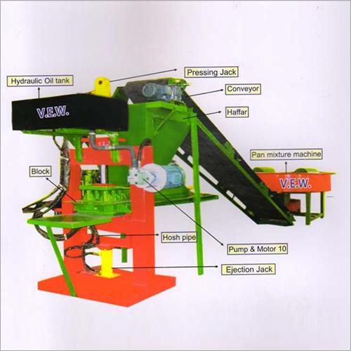 Fly Ash Brick's Plant Hydraulic Model 6 Block