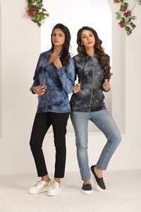 Designer Zipper Ladies Sweatshirt