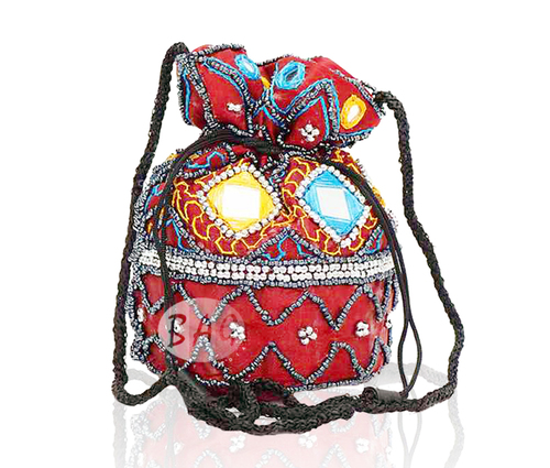 Mirror Work Designer Potli Bag
