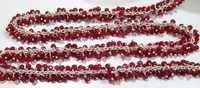 Genuine Ruby Dangling Beaded Chain