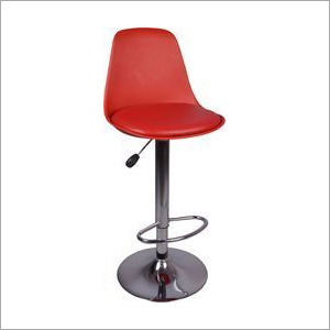 Red Ergonomic Bar Stool