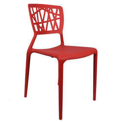 Red Eliminar Plastic Molded Chair