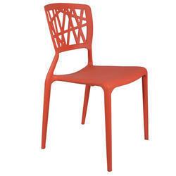 Orange Eliminar Plastic Molded Chair