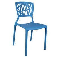 Blue Eliminar Plastic Molded Chair