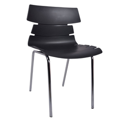 Black Alisar Steel Frame Plastic Chair