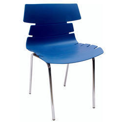 Blue Alisar Steel Frame Plastic Chair