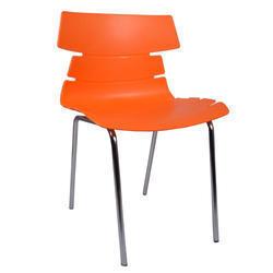 Orange Alisar Steel Frame Plastic Chair