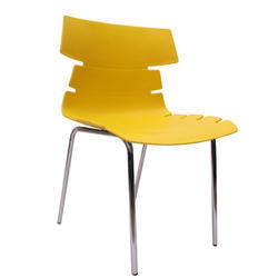 Yellow Alisar Steel Frame Plastic Chair