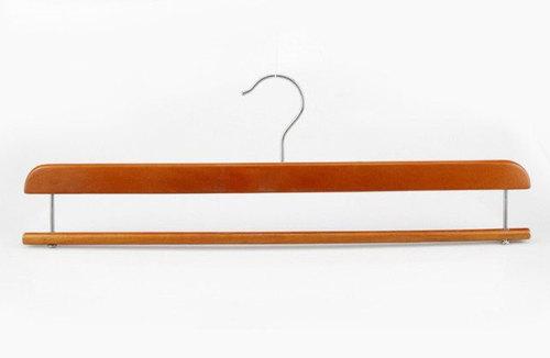 Wooden Blanket Hanger with slide bar