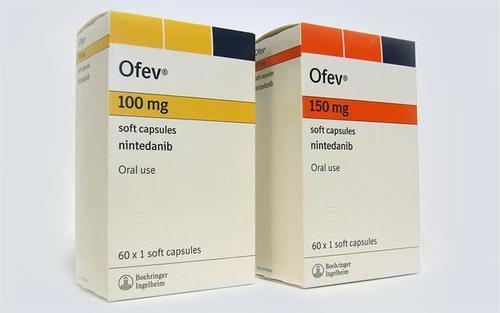 OFEV 100 MG AND 150 MG -60- SOFT CAPSULES