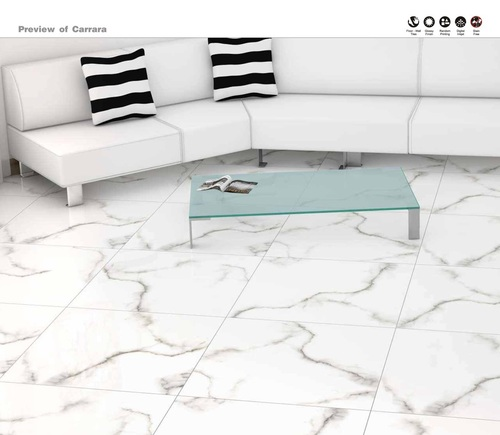 Living Room Tiles Concept of Carrara