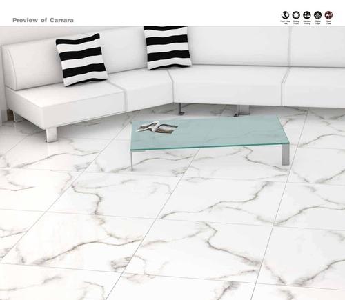 Living Room Tiles Concept of Carrara