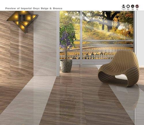 Italian Marble Imperial Onyx & Bronce Floor Tilles