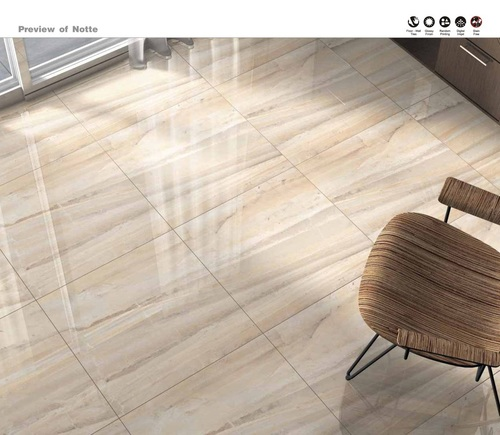 Living Room Isham Polished Glazed Vitrified tiles