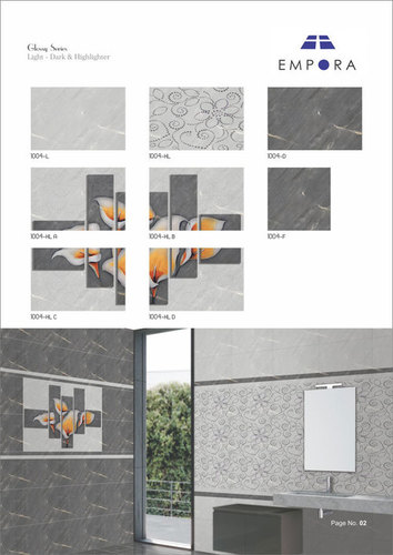 Glossy Series Designer Wall Tiles 30x45
