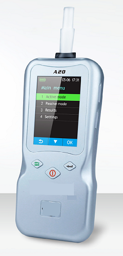 Alcohol Breath Analyser with Bluetooth Printer A20