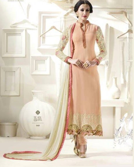 Georgette embroidered suit