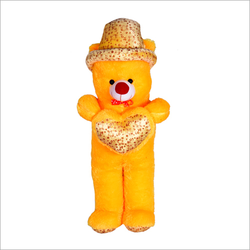 Yellow Cap Long Teddy Bear