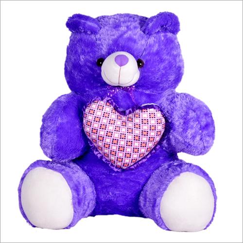 Purple Teddy Bear With Heart