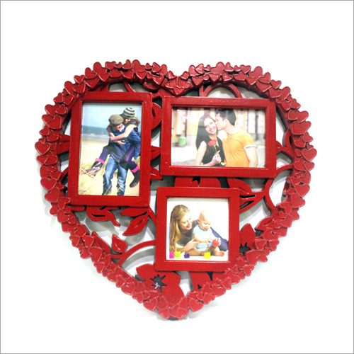 Heart Shape Plastic Photo Frame