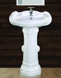 Big Sterling Pedestal Wash Basin