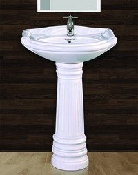 Rajwadi Pedestal Wash Basin Set