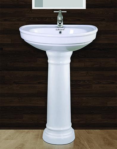 Sonata Pedestal Wash Basin Set