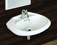 Round Wall Hung Wash Basin 18