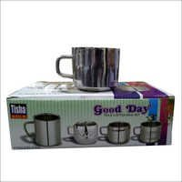 Steel Tea and Coffee Mug Set