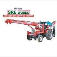 Tractor Crane Post Hole Digger