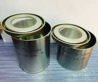 Double tight with windiw without window round tin