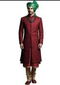 red sherwani for boys